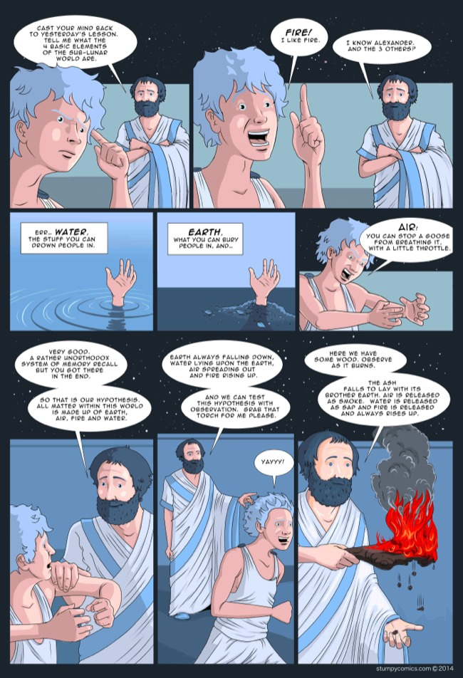 First part of the science comic On the Revolution, following how the scientific revolution emerged. Part 1 introduces Aristotle page 3