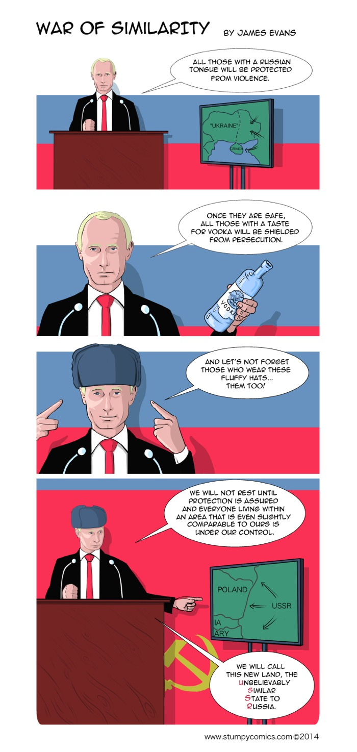 War of Similarity is a political comic about Russian aggression towards its neighbours